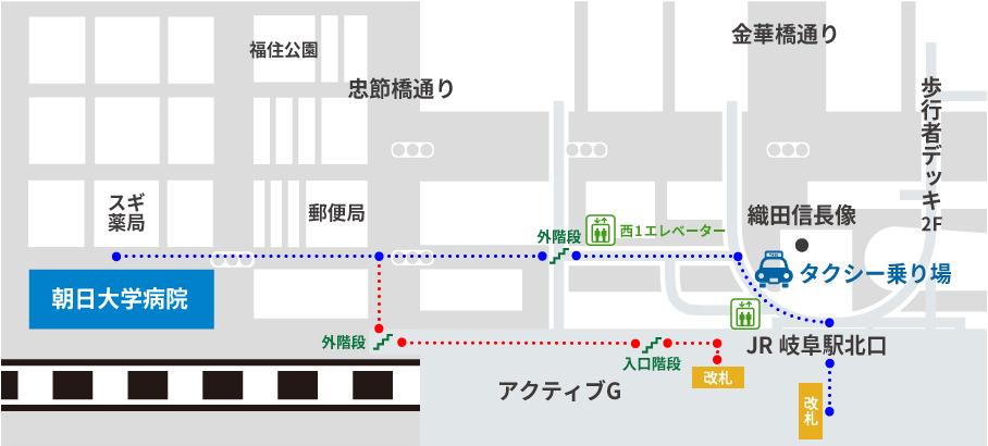JR岐阜駅周辺の地図